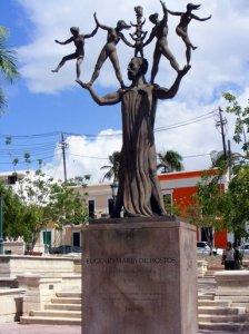 Hostos statue, San Juan, Puerto Rico