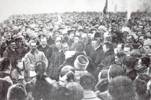 Signing of the Act Zluky on January 22, 1919
